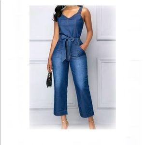 Pants - HP 🥳Chambray jumpsuit XL